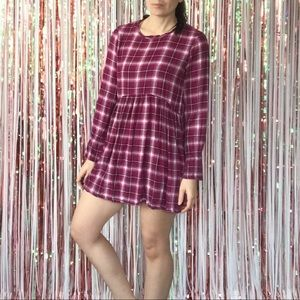 BCBGeneration plaid mini dress tunic - small